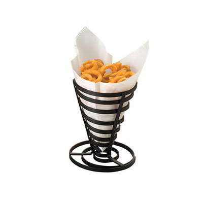 "American Metalcraft FCD1 5"" French Fry Basket, Black"