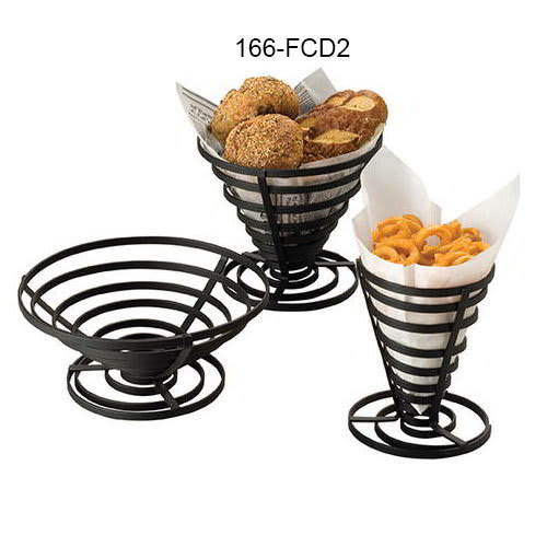 "American Metalcraft FCD2 7"" French Fry Basket, Black"