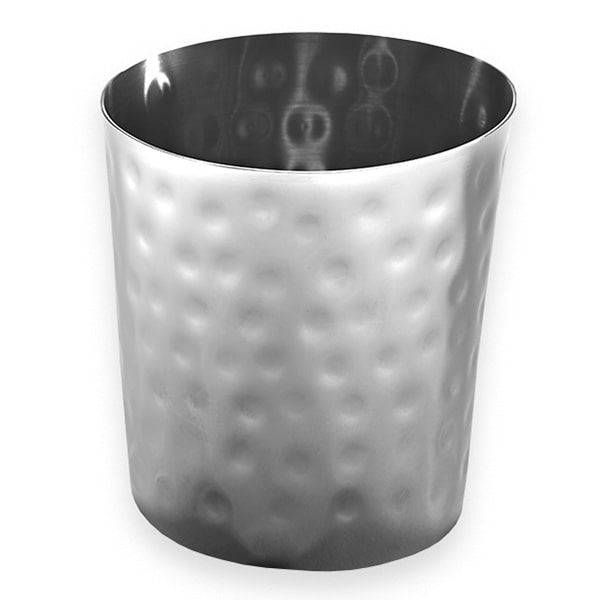 American Metalcraft FFHM35 26 oz Round French Fry Cup - Hammered-Finish Stainless