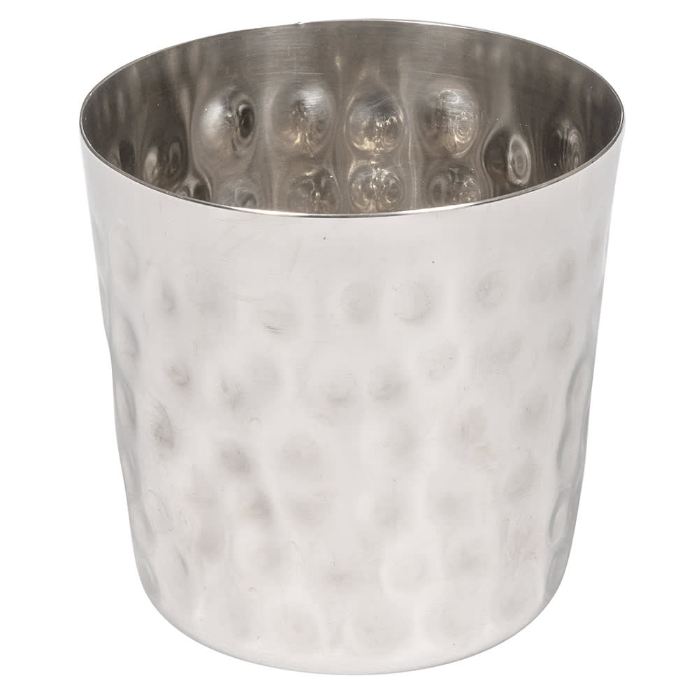 "American Metalcraft FFHM37 3.37"" French Fry Cup, Satin Finish, Hammered/Stainless"