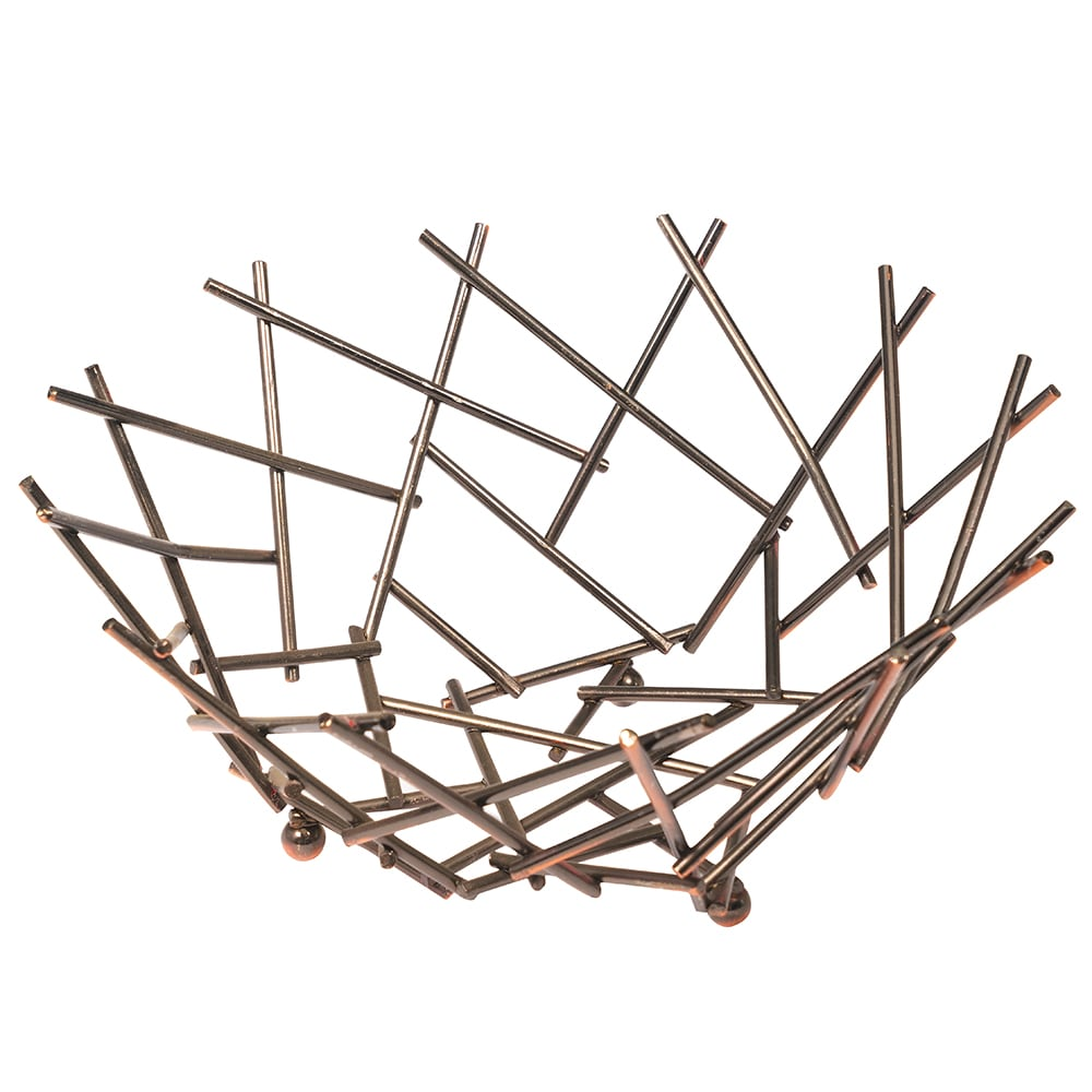 "American Metalcraft FRU11 8"" Thatch Basket, Copper"