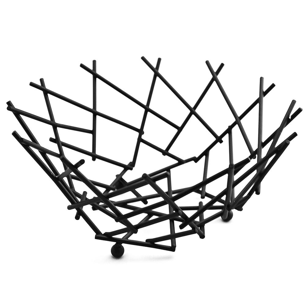 "American Metalcraft FRUB12 8"" Thatch Basket, Black"