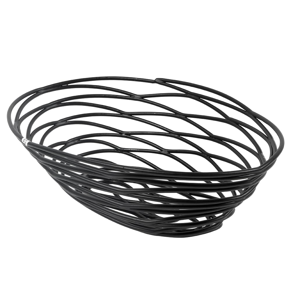 American Metalcraft FRUB18 Oval Wire Basket, Black