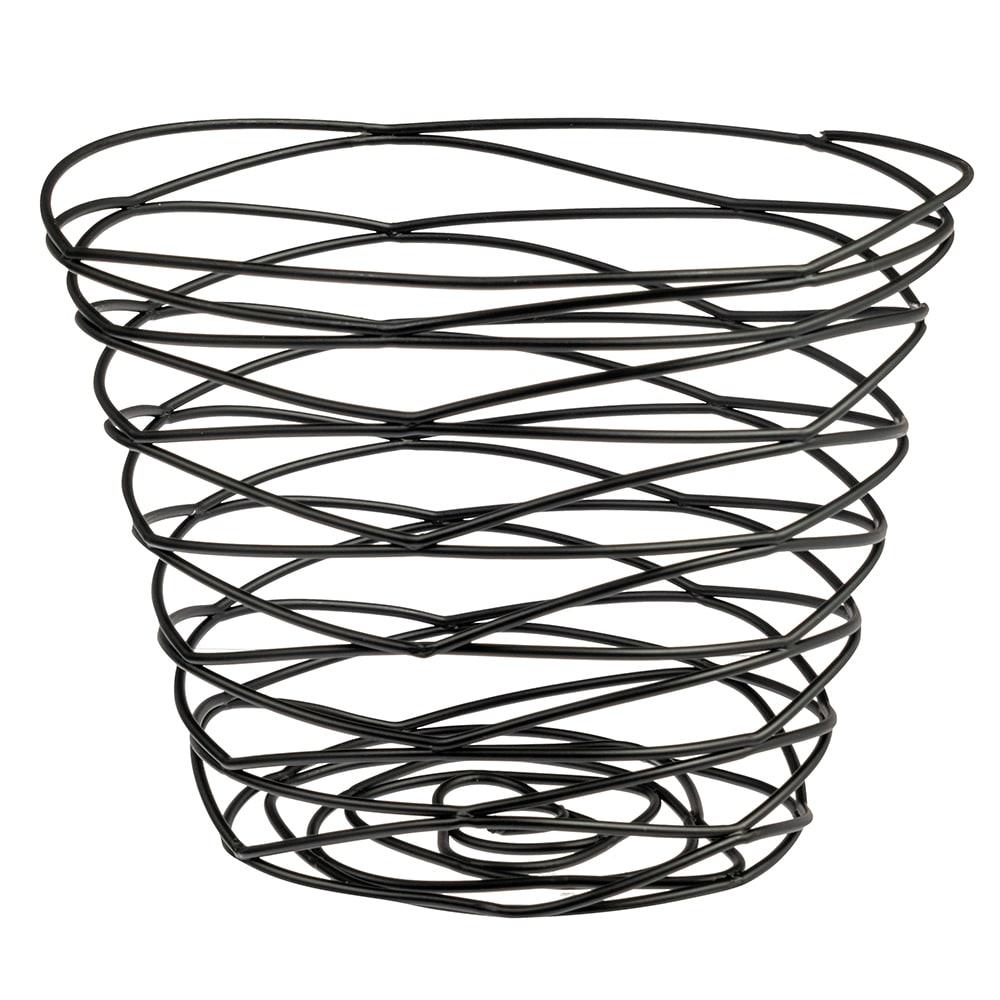 """American Metalcraft FRUB9 7"""" Round Wire Basket, Black"""