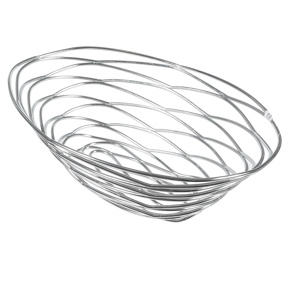 American Metalcraft FRUC16 Oval Wire Basket, Chrome