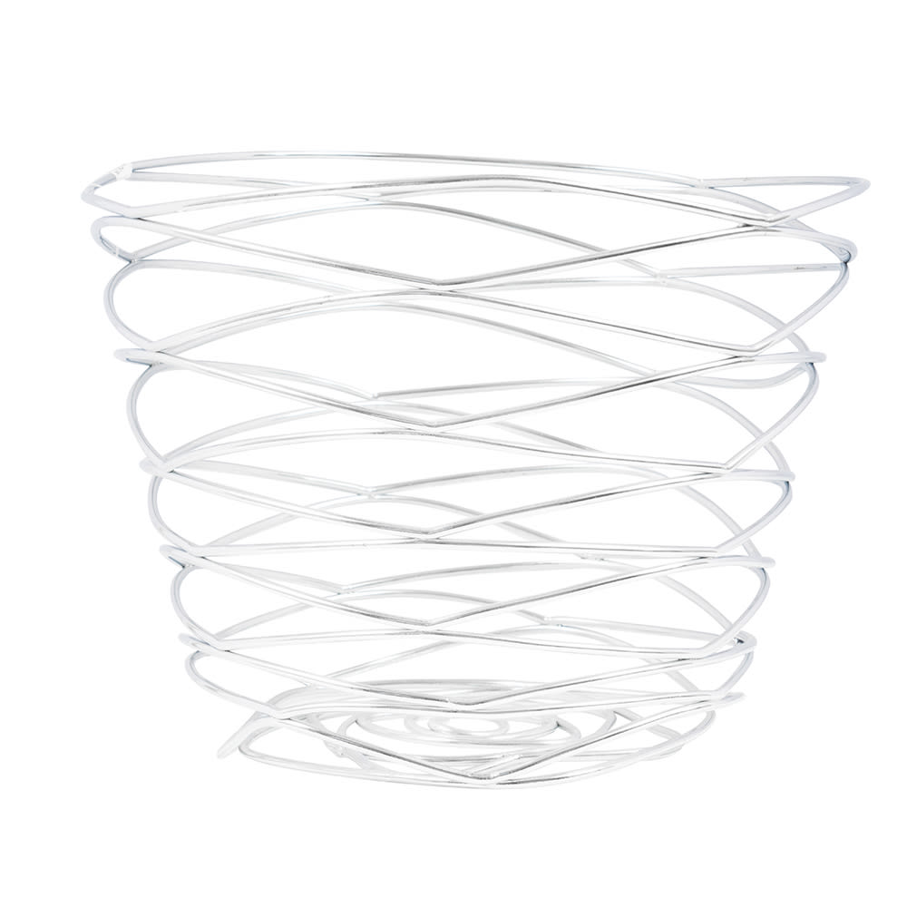 "American Metalcraft FRUC7 7"" Round Wire Basket, Chrome"