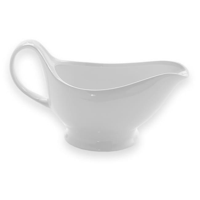 American Metalcraft GB16 16 oz Gravy Boat - White Porcelain
