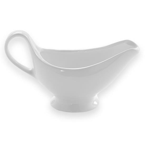 American Metalcraft GB8 9-oz Gravy Boat - White Porcelain
