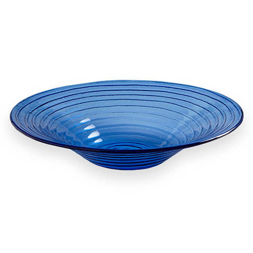 "American Metalcraft GBB15 15"" Bowl, Blue/Glass"