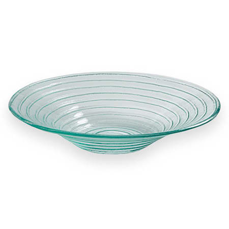 "American Metalcraft GBG14 14"" Recycled Bowl, Green/Glass"