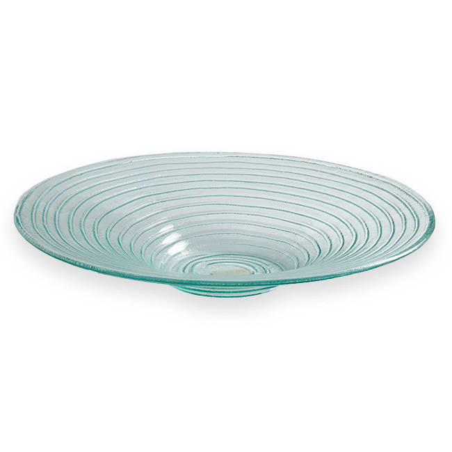 "American Metalcraft GBG19 19"" Recycled Bowl, Green/Glass"