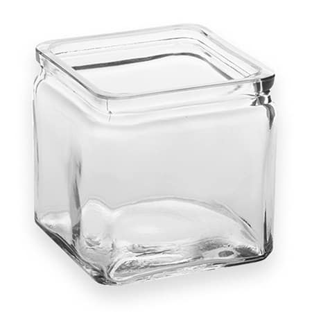 American Metalcraft GJ24 24 oz Square Glass Jar