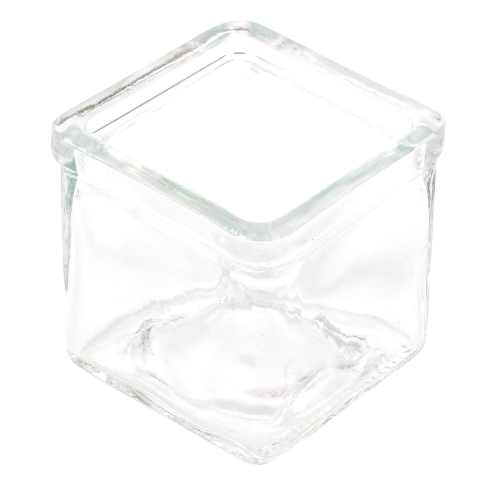American Metalcraft GJ6 6 oz Square Glass Jar