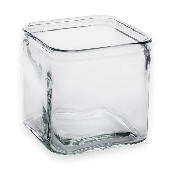 American Metalcraft GJ72 72-oz Square Glass Jar