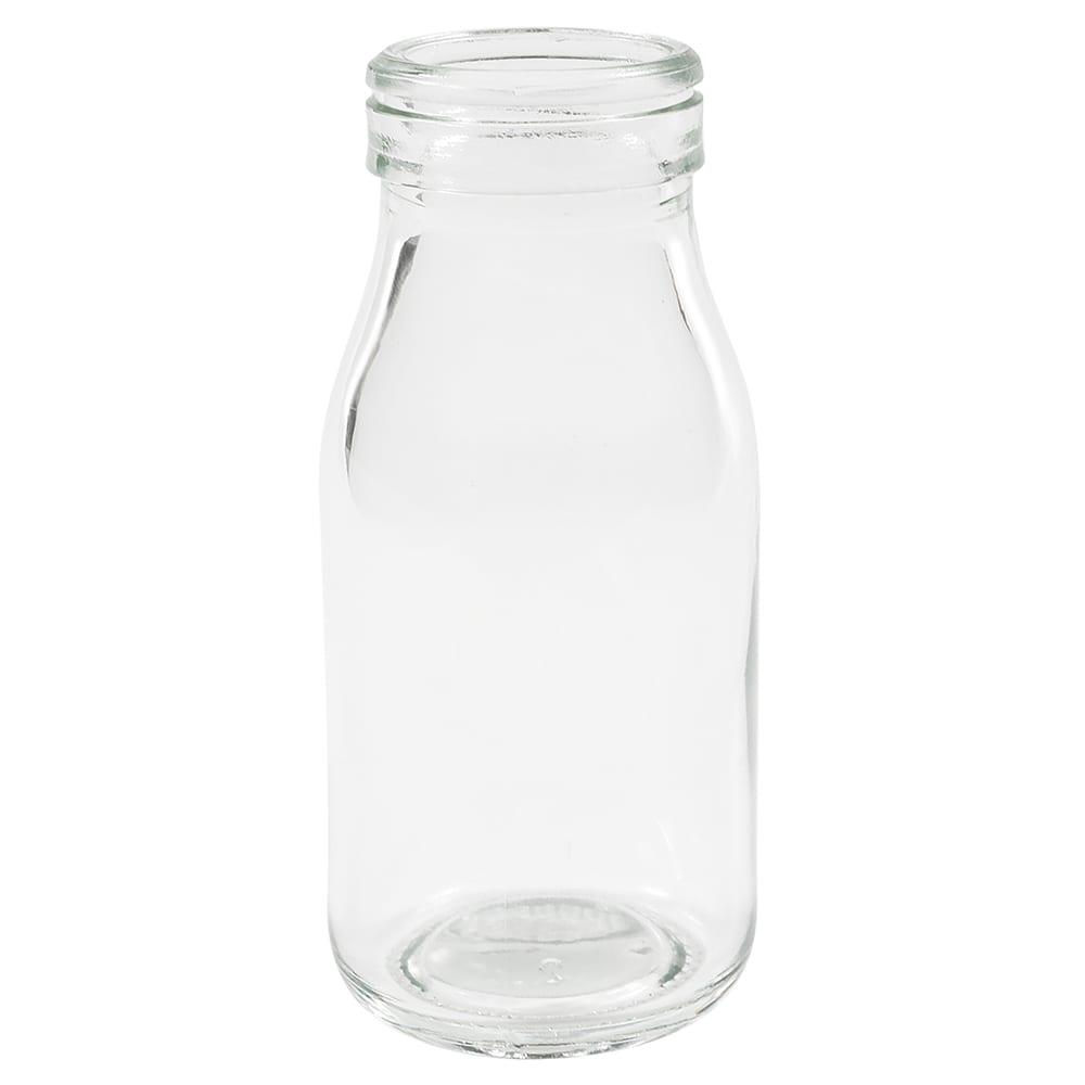 American Metalcraft GMB3 3-oz Glass Milk Bottle - Clear