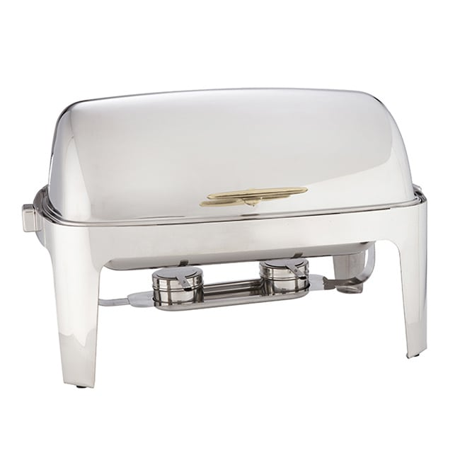 American Metalcraft GOLDAGRT26 Full Size Chafer w/ Roll-top Lid & Chafing Fuel Heat