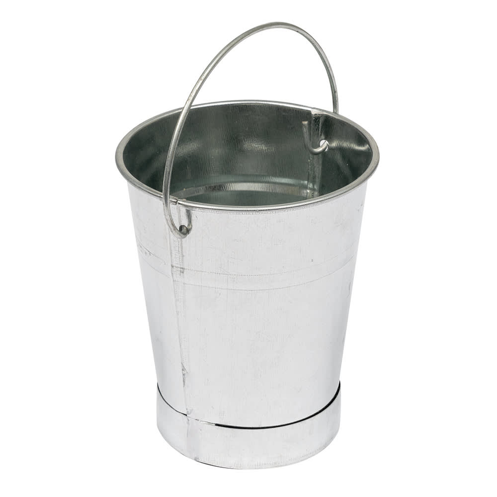 "American Metalcraft GP3 3.5"" Tabletop Serving Pail, Galvanized"