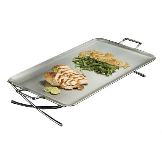 """American Metalcraft GSSS1526 26.5"""" Rectangular Griddle w/ Handle, Stainless"""