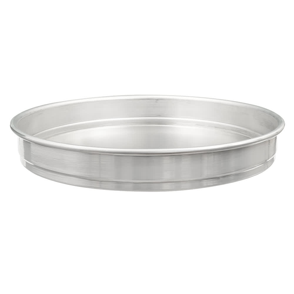 "American Metalcraft HA5014 14"" Self Stacking Pizza Pan, 2"" Deep, Aluminum"