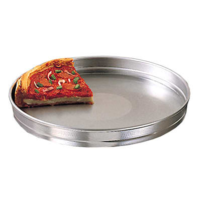 "American Metalcraft HA5114 14"" Self Stacking Pizza Pan, 1.5"" Deep, Aluminum"