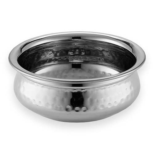 American Metalcraft HB5 16-oz Round Bowl - Hammered-Finish Stainless