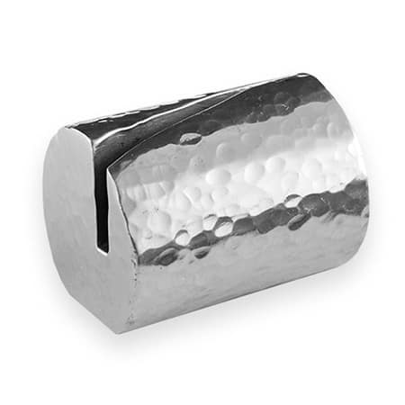 "American Metalcraft HCHL2 1.25"" Cylinder Card Holder, Hammered Aluminum"