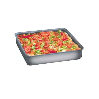 "American Metalcraft HCSQ1615 Straight Sided Deep Dish Pan, 1.5"" Deep, 16x16"", Hardcoat, Aluminum"