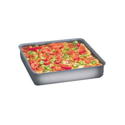 "American Metalcraft HCSQ610 Straight Sided Deep Dish Pan, 1"" Deep, 6x6"", Hardcoat, Aluminum"