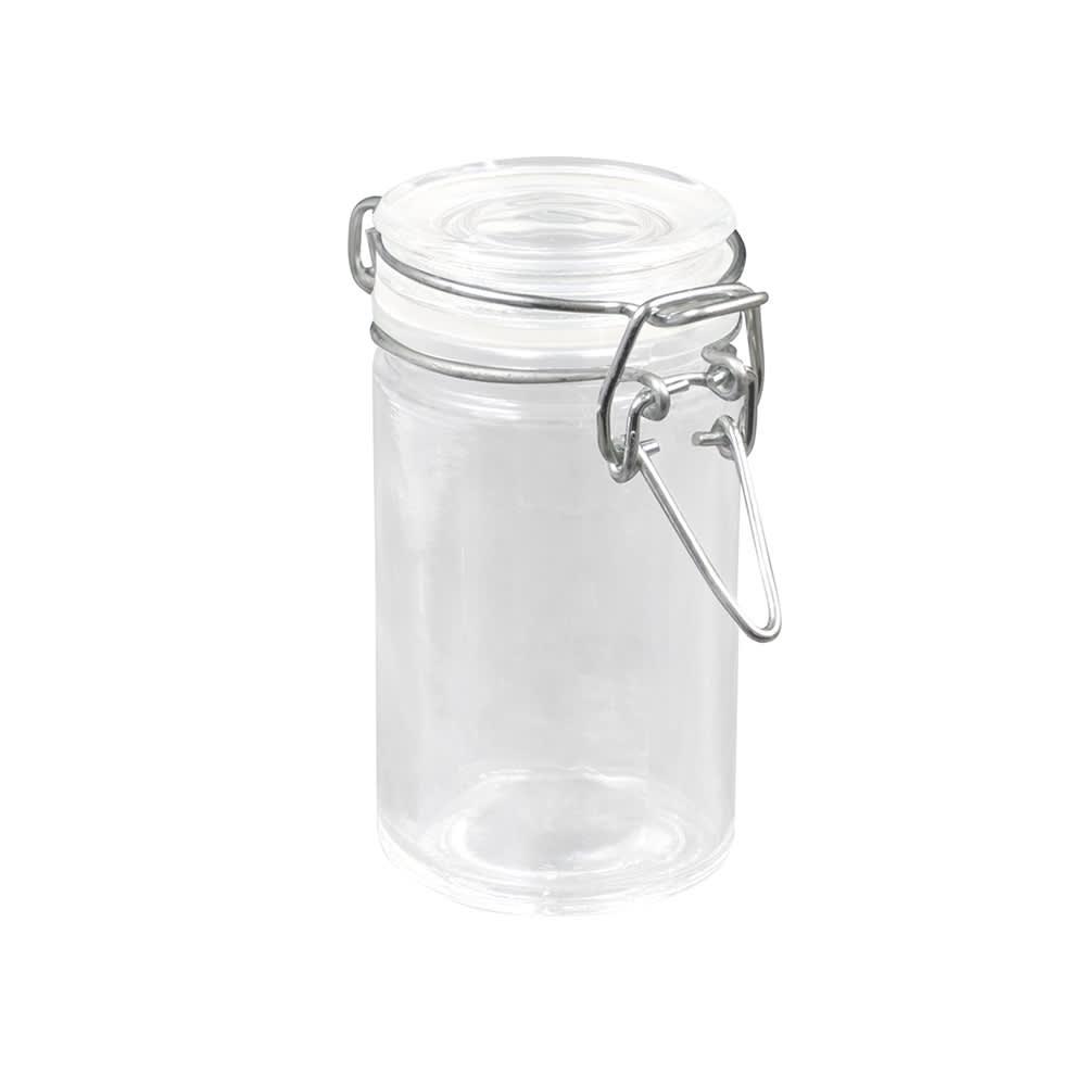 American Metalcraft HMMJ2 2.5 oz Mini Mason Jar with Hinged Lid - Glass