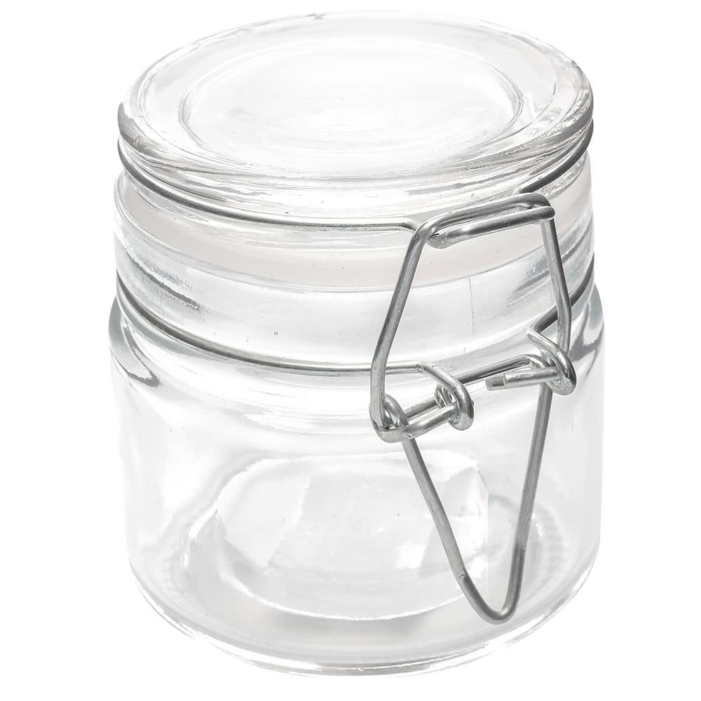 American Metalcraft HMMJ4 4 oz Mini Mason Jar with Hinged Lid - Glass