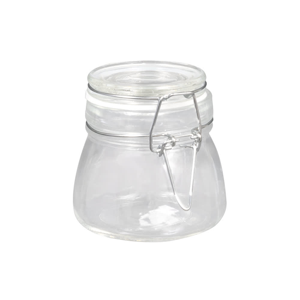 American Metalcraft HMMJ5 5 oz Mini Mason Jar with Hinged Lid - Glass
