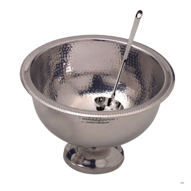 American Metalcraft HMPB20 Punch Bowl w/ 13-qt Capacity, Hammered, Stainless