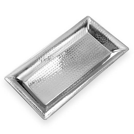 "American Metalcraft HMRT1019 Rectangle Serving Tray - 18.75x9.75"", Stainless"