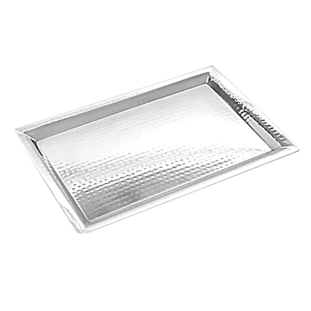 "American Metalcraft HMRT1611 Rectangular Tray, 16.62x11.25"", Hammered, Stainless"