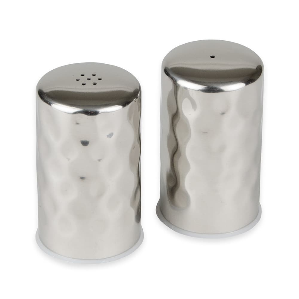 "American Metalcraft HMSP2 2.5"" Salt & Pepper Shaker Set, Round"