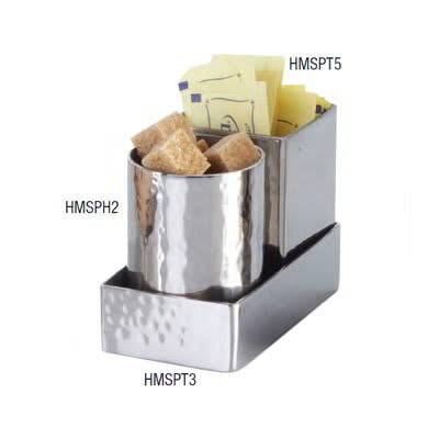"American Metalcraft HMSPT3 Sugar Packet Holder, 4.25x2.25"", Hammered, Stainless"
