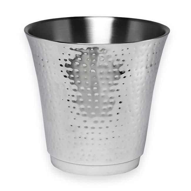 """American Metalcraft HMWB 8.75"""" Round Wine Bucket, Hammered, Stainless"""