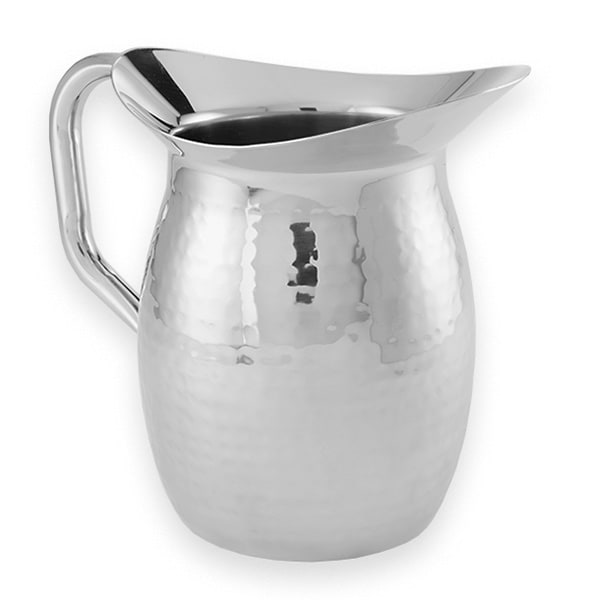 American Metalcraft HMWP64 Double Wall Pitcher w/ 64 oz Capacity, Hammered, Stainless