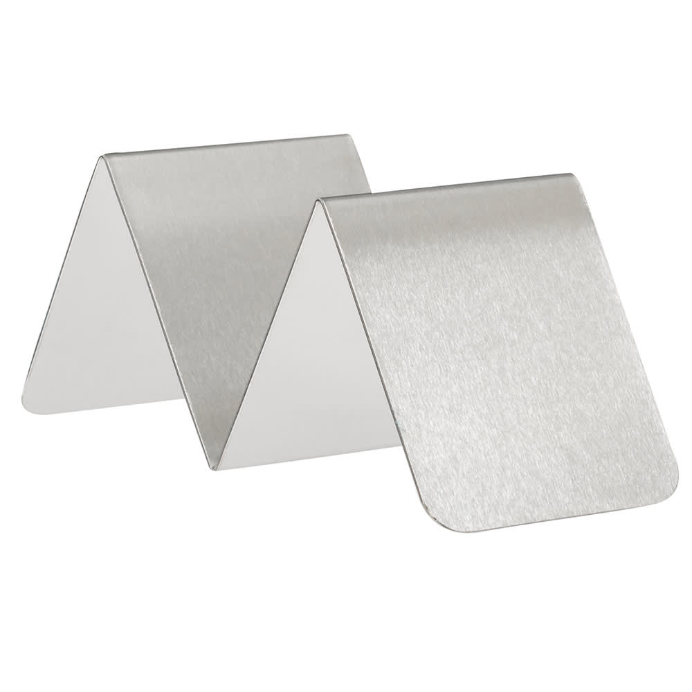 "American Metalcraft HTSH1 Taco Holder - 2x5x2"" Stainless"