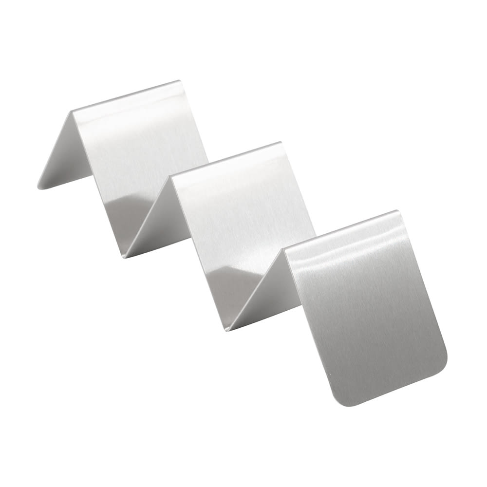 """American Metalcraft HTSH3 Taco Holder - 2x8x2"""" Stainless"""