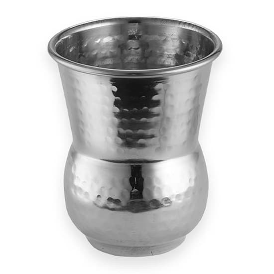American Metalcraft HV3 12 oz Moroccan Tumbler - Hammered-Finish Stainless