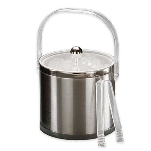 American Metalcraft IBS32 Ice Bucket w/ 3 qt Capacity & Bale Handle, Silver