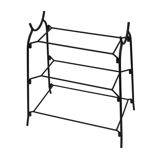 American Metalcraft IS14 3 Tier Large Platter Stand w/ Curled Feet, Holds 2 CER23 & 1 CER21, Wrought Iron/Black