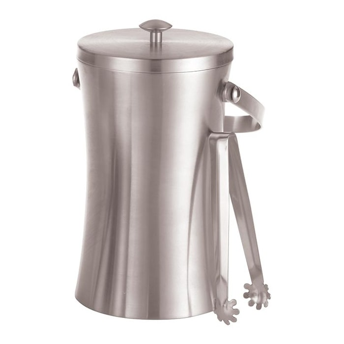 American Metalcraft ISSB8 49-oz Ice Bucket w/ Tongs, Stainless