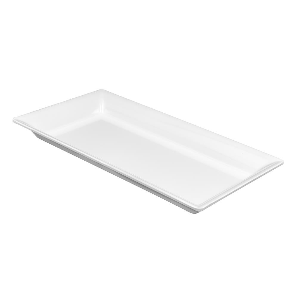 "American Metalcraft MEL19 Endurance Rectangular Platter, 14.25x7.5"", Melamine/White"