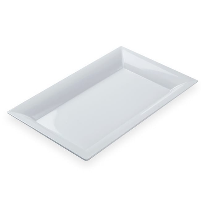 "American Metalcraft MEL21 Rectangular Platter, 21x13"", Melamine/White"