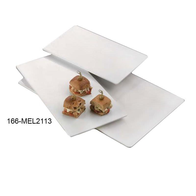 "American Metalcraft MEL2113 Flat Rectangular Platter, 21.5x13"", Melamine"