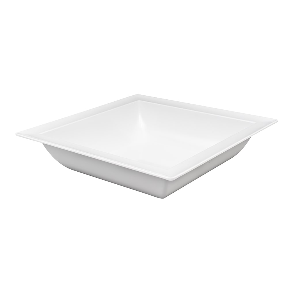 "American Metalcraft MEL41 14.5"" Square Bowl, Melamine/White"