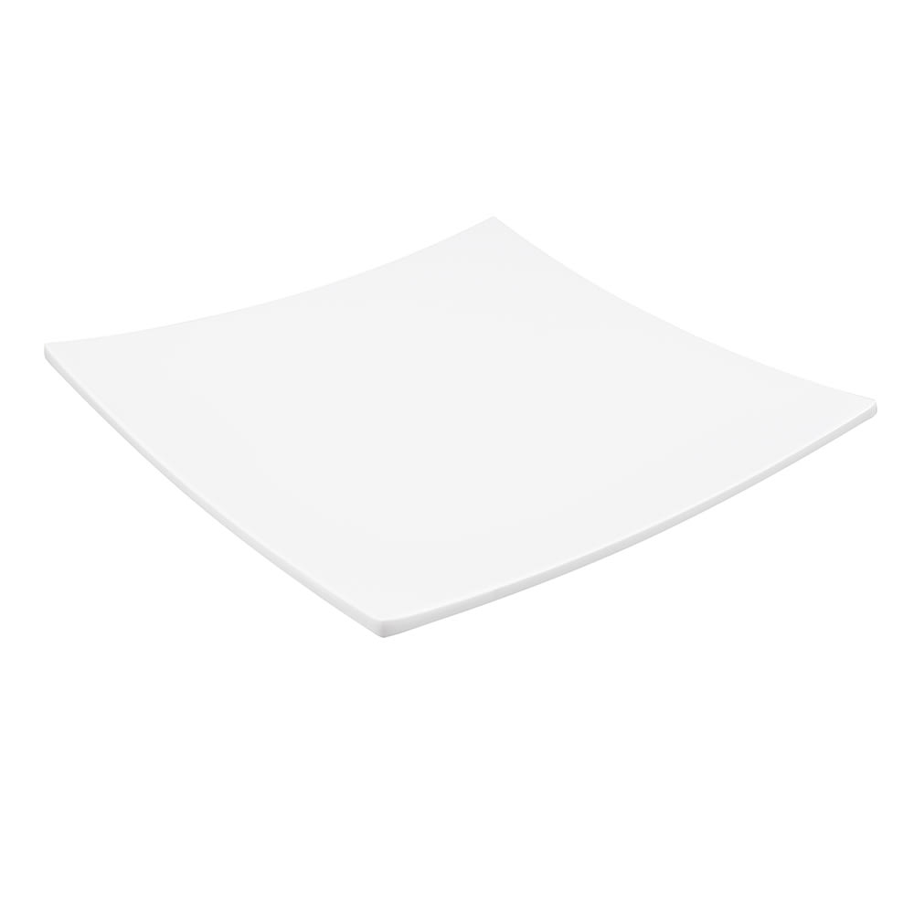"American Metalcraft MEL42 12"" Square Plate, Melamine/White"