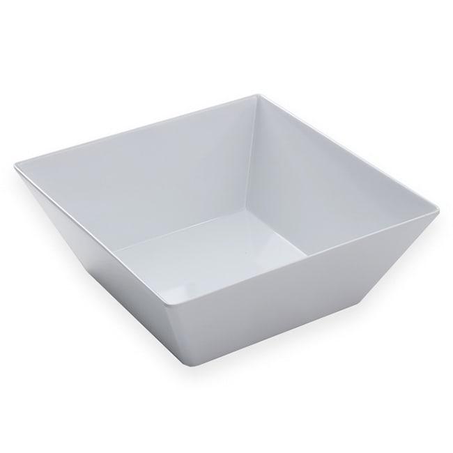"American Metalcraft MELSQ117 12"" Square Bowl, Melamine/White"